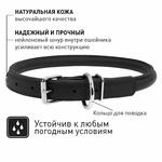 Круглый ошейник ВАУДОГ ГЛАМУР 33-41 см 10 мм - NaVolyni.com, Фото 3
