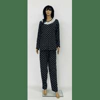 Теплая трикотажная пижама больших размеров 60