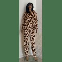 Костюм махровый для дома леопардовый