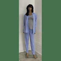 Комплект тройка для кормящих и беременных женщин халат и пижама с брюками Украина 44