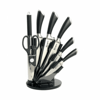 Набор ножей из нержавеющей стали на подставке RS\KN 8001-08
