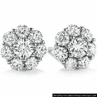 Сережки з діамантами для нареченої