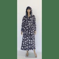 Халат махровый женский длинный с капюшоном