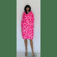 Женский халат махровый на молнии с капюшоном 54