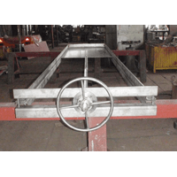 Затвор щитовой ручний ЗЩР з нержавіючої сталі