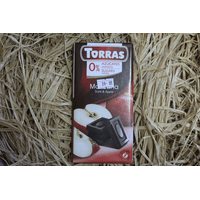 Шоколад черный с яблоком Torras, 75г