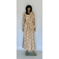 Женский халат махровый на запах длинный