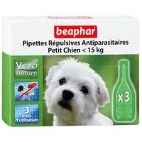 Beaphar капли Bio Spot On для собак маленьких пород антипаразитарные натуральные капли для собак мелких пород (до 15 кг) с 12 недельного возраста Артикул: 15612 Пипетки : 3 пипетки