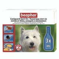 Beaphar Канигард капли Spot On для собак средних пород капли от блох и клещей для собак средних пород и щенков Артикул: 132058 Пипетки : 3 пипетки