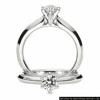 Заручальний перстень з білого золота з діамантом