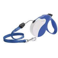 Рулетка Ферпласт Amigo Small шнур син/бел Small, с длиной шнура 5 метров для собак с максимальным весом 15 кг.