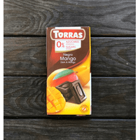 Шоколад черный без сахара Torras Mango, 75г