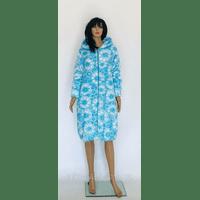 Женский халат махровый на молнии с капюшоном 52