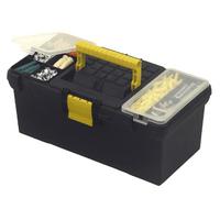 """1-93-335 Ящик для инструмента Stanley """"Classic"""" пластмассовый с 2-мя органайзерами и лотком, 39,4 x 22,2 x 16,2 см (16 дюймов)"""