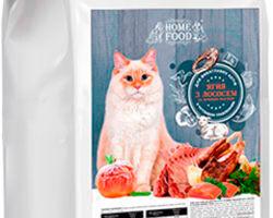 Home Food с ягненком, лососем и печеным яблоком для кошек с чувствительным пищеварением,5 кг
