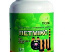 Витамины Петмикс для взрослых кошек банка 60 табл.