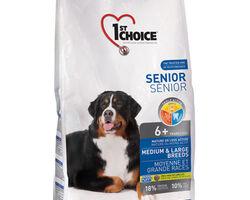 1st Choice (Фест Чойс) сухой супер премиум корм для пожилых или малоактивных собак средних и крупных пород, 7 кг