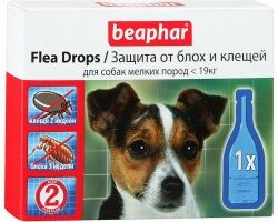 Beaphar капли от блох и клещей для собак мелких пород капли от блох и клещей для собак мелких пород с шестимесячного возраста Артикул: 10832 Пипетки : 3 пипетки