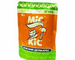МИС КИС пауч - консервированный мясной деликатес с ягнёнком для кошек , 100 гр