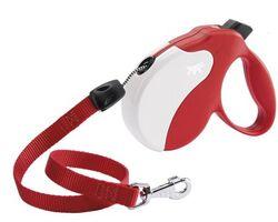 Рулетка Ферпласт Amigo Medium шнур красн/бел Medium, с длиной шнура 5 метров для собак с максимальным весом 25 кг.