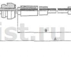 11.0821 COFLE 3A0 721 555 Трос акселератора VW PASSAT 1,8-2,0 93-
