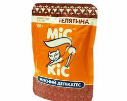 МИС КИС пауч - консервированный мясной деликатес с телятиной для кошек , 100 гр