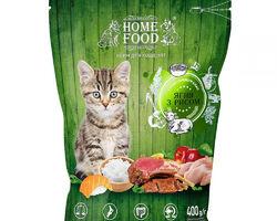Home Food с ягненком и рисом для котят, 0,400 кг