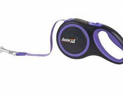 Поводок-рулетка AnimAll для собак весом до 15 кг, 3 м, фиолетовый