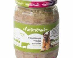 Влажный корм для собак Леопольд Мясной с говядиной и сердцем 720 г