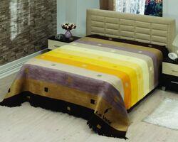 Плед на ліжко Le Vele Rainbow Brown