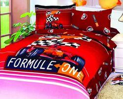 Дитяча постільна білизна Le Vele – Formula Red