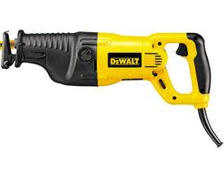 DW311K Пила сабельная DeWalt, 1 200 Вт, 0-2600 ход/мин, величина хода: 28 мм, пропил (дерево/стальные трубы/пластик): 300/130/160 мм, 4.0 кг.