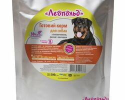 Влажный корм для собак Леопольд Готовый корм с говядиной и рисом с овощами 500 г