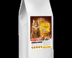 Home Food с индейкой и креветками для кошек крупных пород,0.400 кг