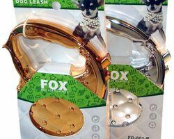 """Поводок-рулетка Fox """"Гламур"""", лента, 3 м / 20 кг Производитель: FOX Тип поводка: Рулетки Размер породы: Средние породы Код товара: FD801-A"""