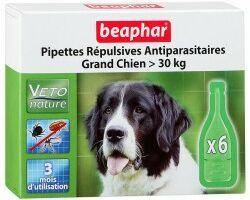 Beaphar капли Bio Spot On для собак больших пород натуральные антипаразитарные капли для собак крупных пород (свыше 30 кг) с 12 недельного возраста Артикул: 15614 Пипетки : 6 пипеток