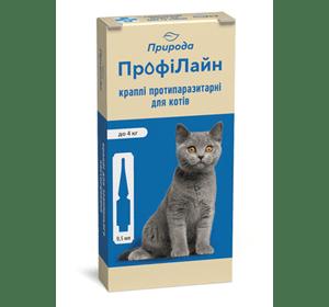 ПрофиЛайн (для кошек до 4 кг) Инсектоакарицидные препараты