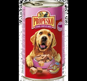 Консерва Propesko c говядиной, курицей и дичью, 415 г