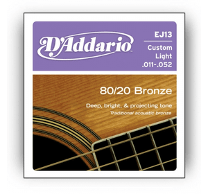 D`ADDARIO EJ13 80/20 BRONZE CUSTOM LIGHT 11-52