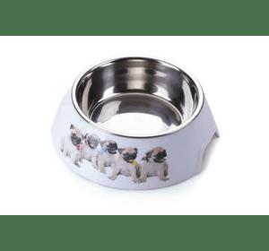 Пластиковая миска AnimAll с металлической вставкой для собак, 700 мл L