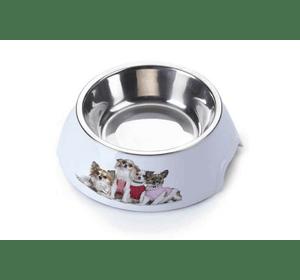 Пластиковая миска AnimAll с металлической вставкой для собак, 300 мл М