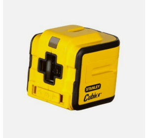 """STHT1-77340 Лазерный построитель плоскостей Stanley """"Cubix"""". Рабочая дальность: 12 м. Сенсор выхода за пределы диапазона. горизонтальная и вертикальная проекции."""