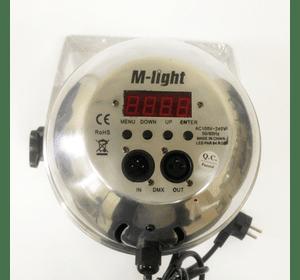 LED Прожектор M-Light PAR 64 RGB chrome