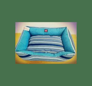 Лежак TM DIEGO Голубая полоска