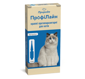 ПрофиЛайн (для кошек от 4 до 8 кг) Инсектоакарицидные препараты Артикул: PR240989