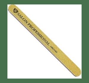 Пилка Salon Professional 100/100, золотая, узкая