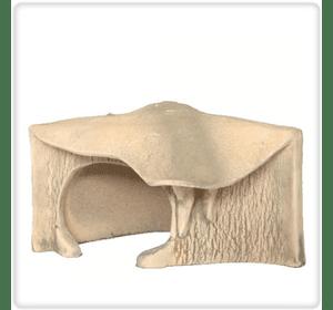Грот для черепахи угловой большой (21 х 23 см)