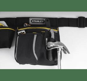 """1-96-181 Сумка поясная для инструмента Stanley """"Basic Stanley Tool Pouch"""" из полиэстера, металлический держатель для молотка, 23,5 x 33,2 x 7,5 см"""