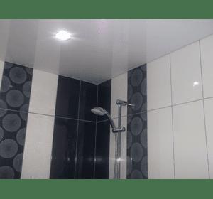 Натяжні стелі у ванній кімнаті