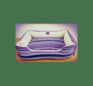Лежак TM DIEGO фиолетовая полоска